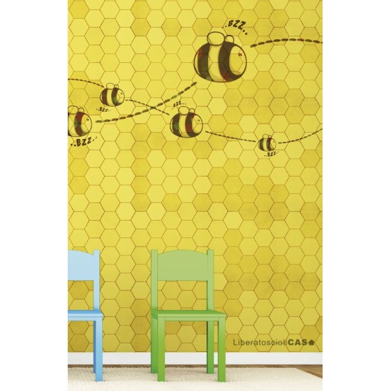CARTA DA PARATI KIDS Honey to the bee - WALLPEPPER