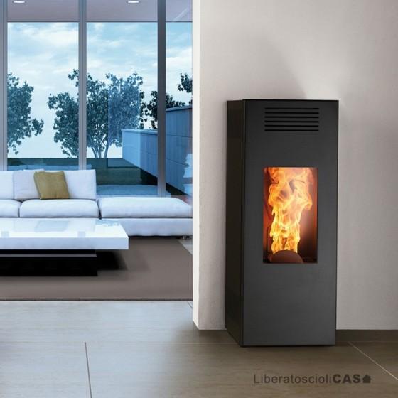 MONTEGRAPPA - STUFA A PELLET NOIR + LP6 - 9 kW ad aria calda ventilata