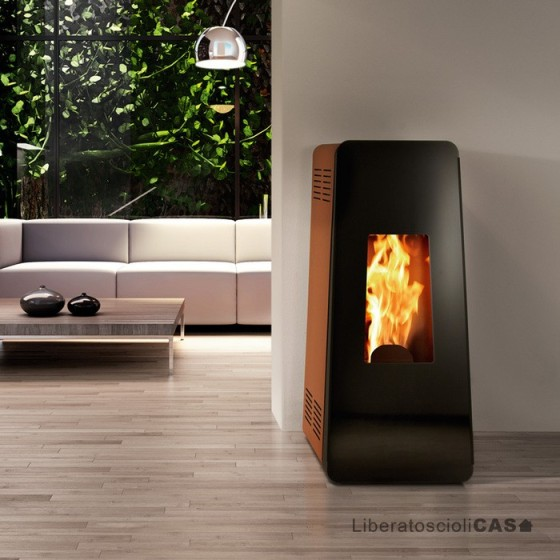 MONTEGRAPPA - STUFA A PELLET LIFE LP 6 - 9 kW ad aria calda ventilata