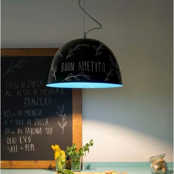 IN-ES.ARTDESIGN - H2O LAVAGNA LAMPADA A SOSPENSIONE