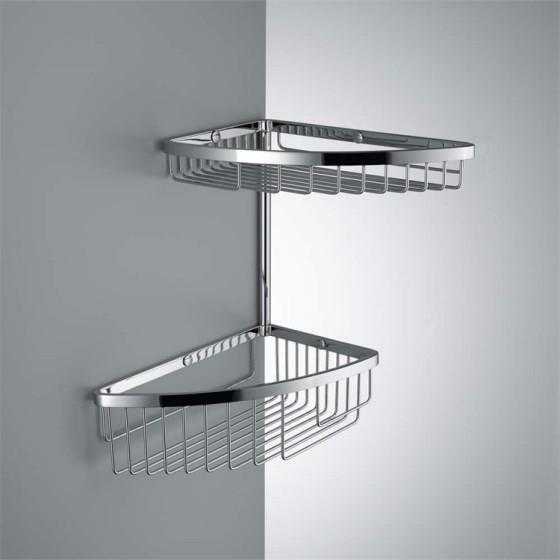 COLOMBO DESIGN - Cavalletto portaoggetti universale per box doccia finitura cromo