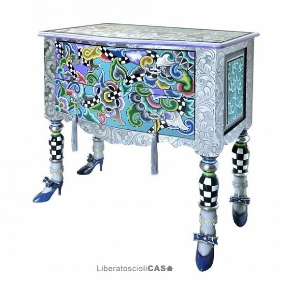 TOMS DRAG - MOBILE DRAWER CHEST VERSAILLES M SILVER LINE COLLECTION
