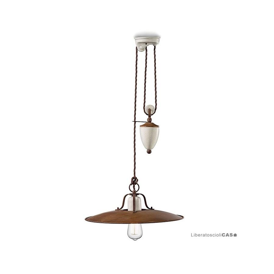 FERROLUCE - LAMPADA A SOSPENSIONE GRUNGE