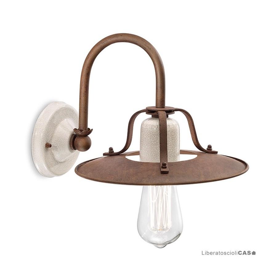 FERROLUCE - LAMPADA DA PARETE GRUNGE
