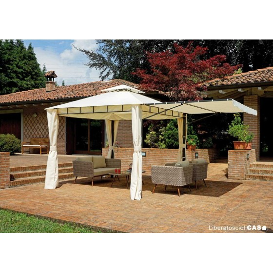 GREENWOOD - Gazebo in ferro 3×3 m – estendibile a 5×3 m