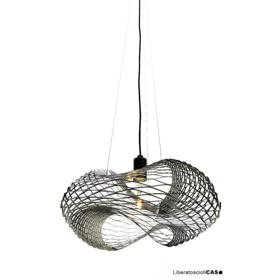 ZAVA - NET LAMPADA A SOSPENSIONE IN LAMIERA D'ACCIAIO