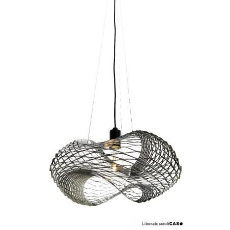 ZAVA - NET LAMPADA A SOSPENSIONE DIAM.50CM IN LAMIERA D'ACCIAIO