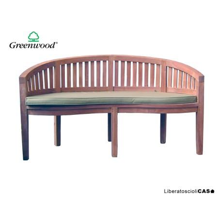 GREENWOOD - LINOSA PANCA IN TEAK CON CUSCINO SFODERABILE