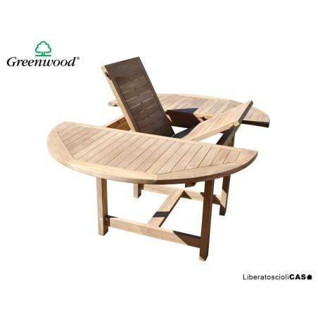 GREENWOOD - Tavolo Capraia 120/170×120 cm – allungabile