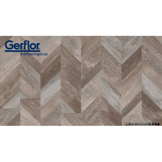 GERFLOR - 0811 Chevron Buckwheat PAVIMENTO LVT COLLEZIONE CREATION 55
