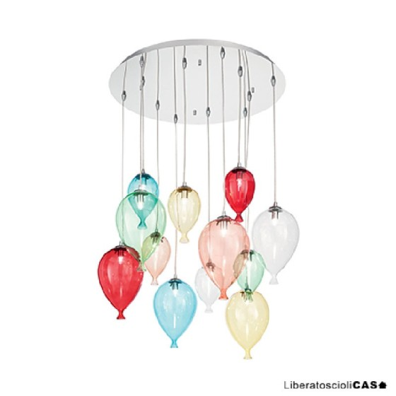IDEAL LUX - CLOWN SP12 COLOR LAMPADA A SOSPENSIONE