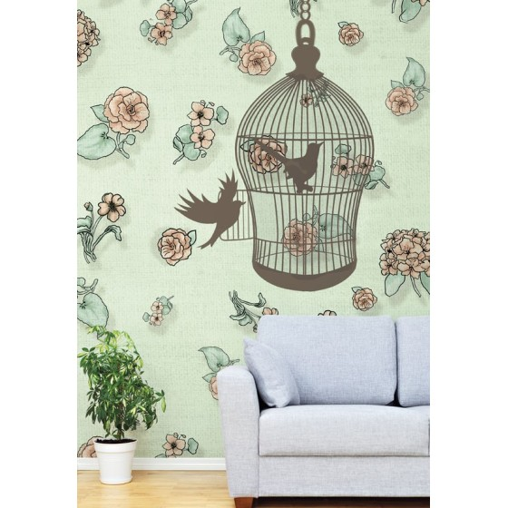 CARTA DA PARATI FRENCH CHIC The open cage WALLPEPPER